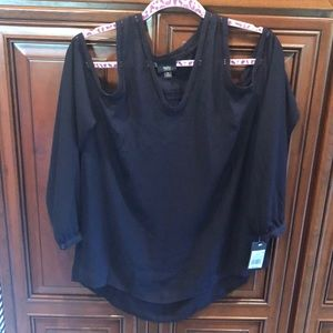 NWT Navy Cold Shoulder Blouse from Target
